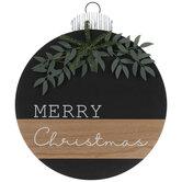 Ball Ornament Wood Wall Decor