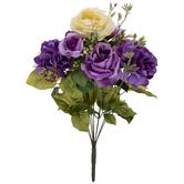 Purple & Yellow Rose, Hydrangea & Berry Mix Bush
