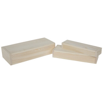 Wood Rectangle Box Set
