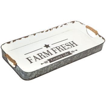 Farm Fresh Metal Tray with Jute