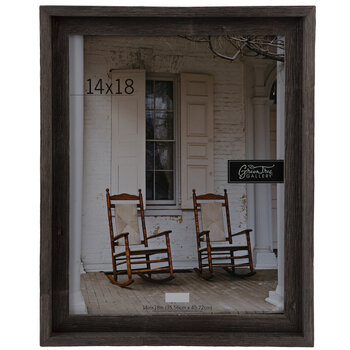 "Gray Rustic Barnwood Wall Frame - 14"" x 18"""