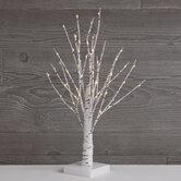 "White Birch Pre-Lit Christmas Tree - 18"""