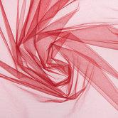 Red Decor Nylon Tulle Fabric