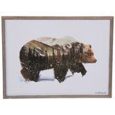 Brown Bear Wood Wall Decor