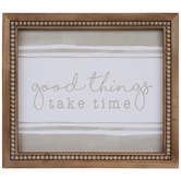 Good Things Take Time Striped Wood Wall Decor