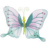 Blue & Pink Butterfly Ornament