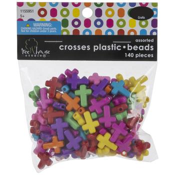 Cross Plastic Beads