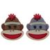 Sock Monkey Shank Buttons