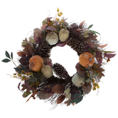 Pumpkin, Pinecone & Berry Wreath