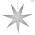 Silver Glitter LED Paper Star - Large