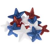 Red, White & Blue Glitter Star Filler