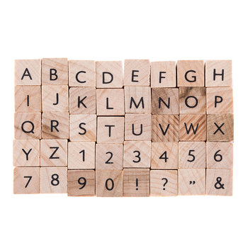 Uppercase Letter Rubber Stamps