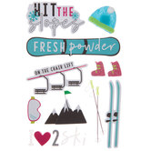 Hit The Slopes 3D Stickers