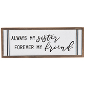 Always My Sister Wood Decor
