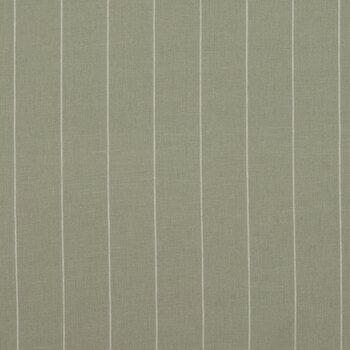 Green & White Striped Cotton Calico Fabric