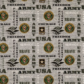 Army Cotton Calico Fabric