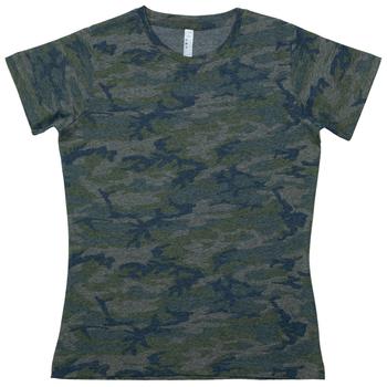 Vintage Camo Ladies T-Shirt