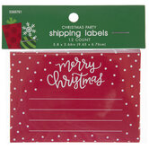 Red Merry Christmas Shipping Labels