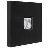 """Black Cloth 3-Ring Scrapbook Album - 10 1/2"""" x 13"""""""