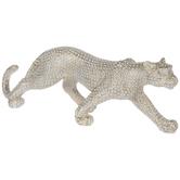 White & Gold Walking Leopard