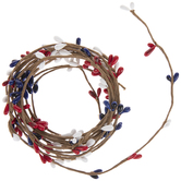Bright Red, White & Blue Berry Garland