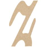 Lowercase Script Wood Letter - Z