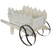 Whitewash Fence Post Wheelbarrow
