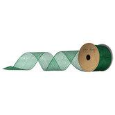 "Kelly Green Metallic Deco Mesh Ribbon - 2 1/2"""