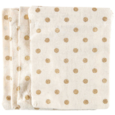 Cream & Gold Polka Dot Drawstring Bags