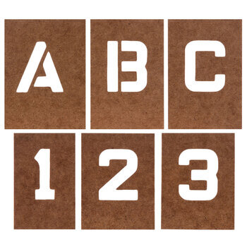 Reusable Oilboard Letter & Number Stencils - 1""