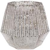 Champagne Geometric Mercury Glass Candle Holder