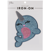 Glitter Narwhal Iron-On Applique