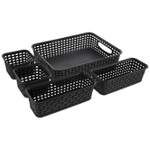 Black Storage Container Set