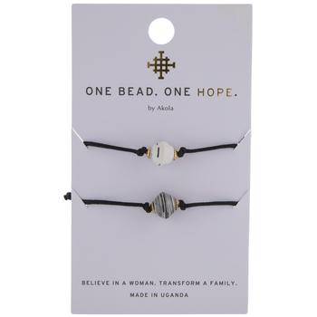 Black & White Karatasi Paper Bead Bracelets