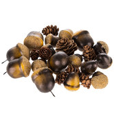 Woodland Pinecone & Acorn Mix