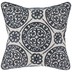 Navy Floral Tile Pillow Cover