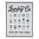 Laundry Symbols Metal Sign