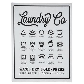 Laundry Symbols Metal Sign