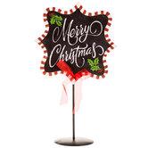 Merry Christmas Metal Chalkboard Decor