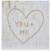 You + Me Heart Wood Decor