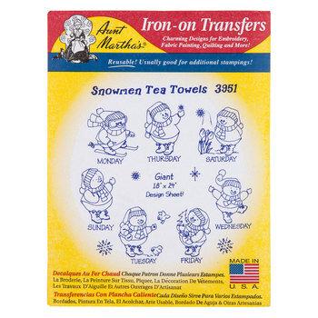 Snowmen Tea Towels Iron-On Transfers