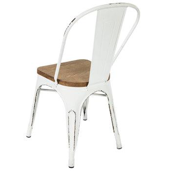 Antique White Metal Chair