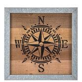 Compass Wood Wall Decor