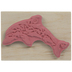 Mosaic Dolphin Rubber Stamp