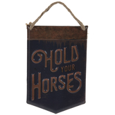 Hold Your Horses Metal Wall Decor