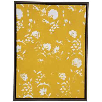 Yellow & White Floral Canvas Wall Decor
