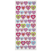 Dimensional Heart Stickers