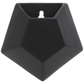 Black Geometric Wall Planter