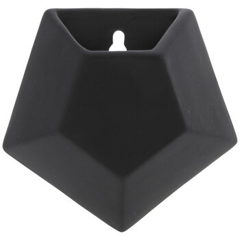 Black Geometric Wall Planter