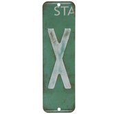 License Plate Letter Metal Sign
